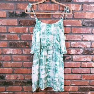 Parker Cara Tiered Silk Mini Dress